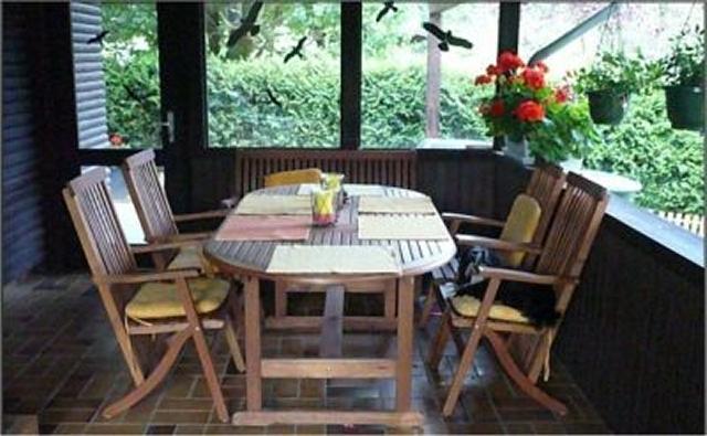 0239-04 Ferienhaus in Vogelsberg Terrasse