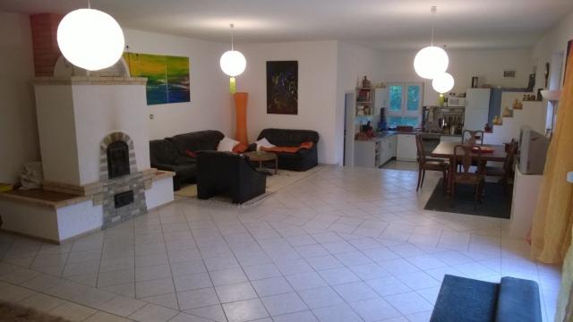 0310-11 Ferienhaus Haas Panorama Wohnzimmer - Essecke - Kueche