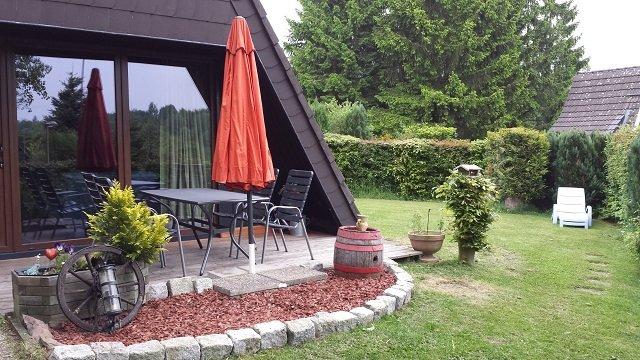 Bennys Hütte Terrasse