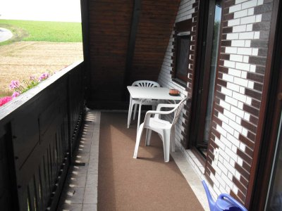 0321-02 Ferienwohnung Brandenstein Balkon
