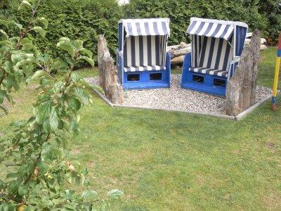 Garten mit Strandkörben
