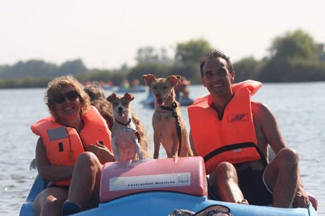 0450-14-Spiaggia-Romea-Boot-mit-Hund