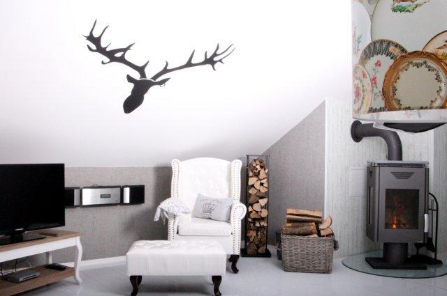 0530-12 Ferienwohnung Solling-Lounge II Wohnzimmer mit Kamin