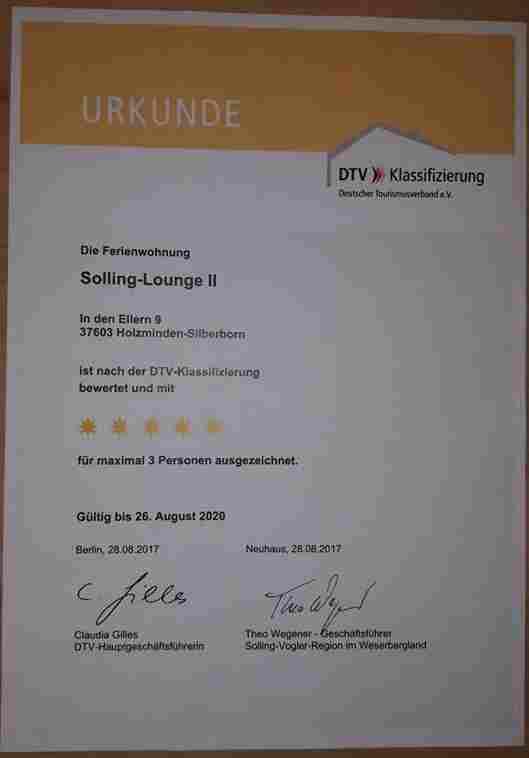 0530-16 Solling Lounge Zertifikat