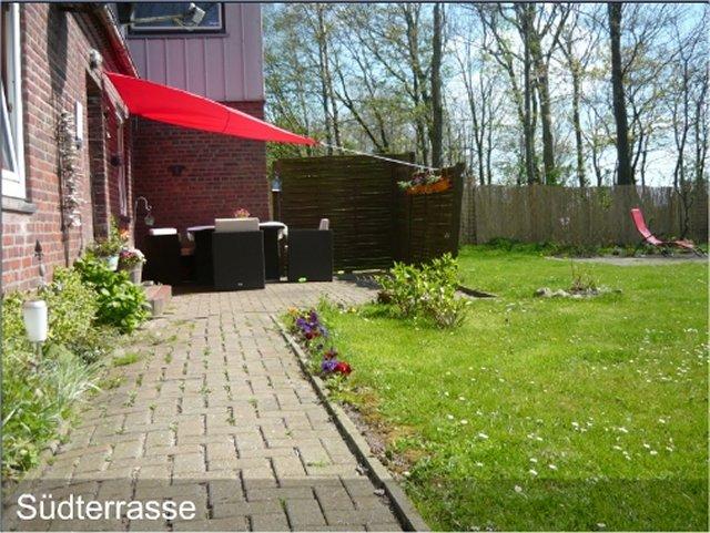 0550-05 Ferienhaus Huus op land Suedterrasse
