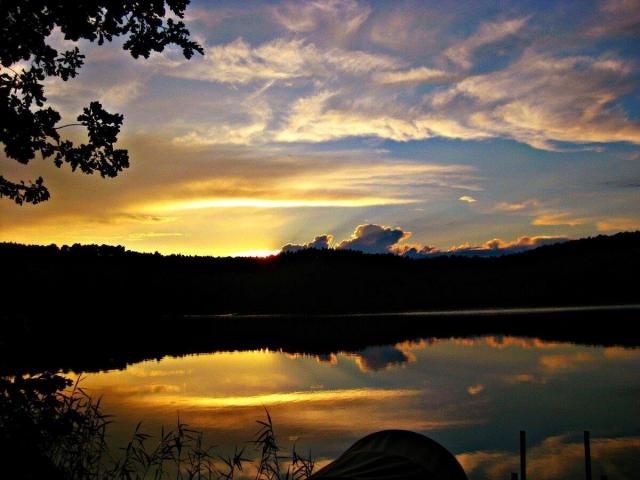 0582-01 Naturcampingplatz Springsee Abendstimmung