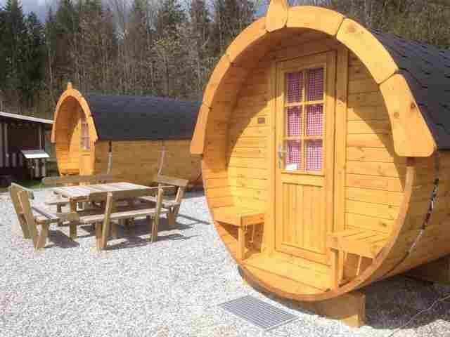 0591-11 Camping Resort Zugspitze Schlaffässer Zugspitz Camping
