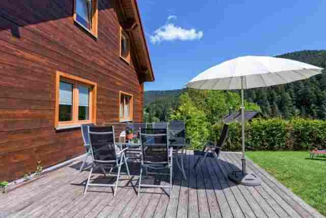 0613-02 Ferienhaus Fronwald Terrasse