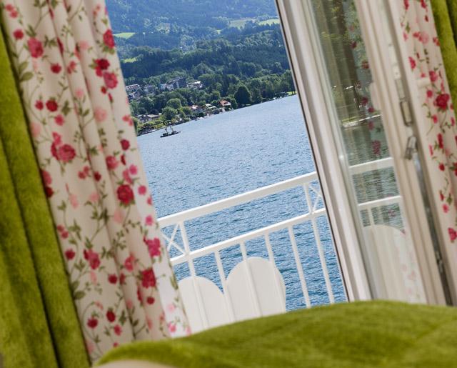 Blick auf den See vom Schlafzimmer aus
