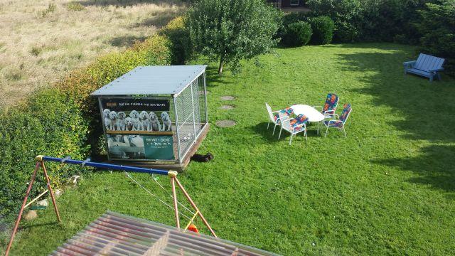 0709-14 Ferienhaus Nordseewind Garten mit Sitzecke
