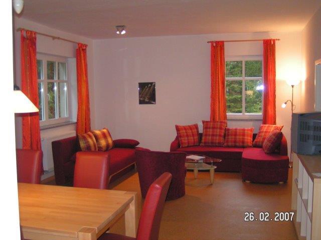 0723-02 Forsthaus Metzelthin große Ferienwohnung 1 Wohnzimmer