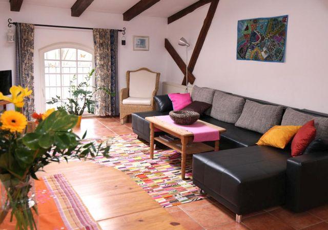 0757-06 Ferien am Schloss FeWo 1 Wohnzimmer
