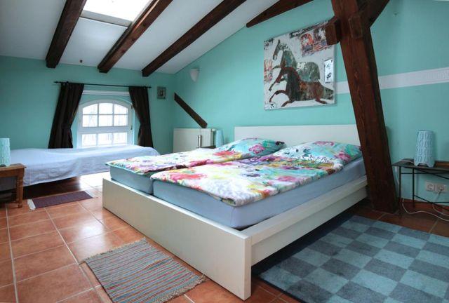 0757-28 Ferien am Schloss FeWo 06 Schlafzimmer 2