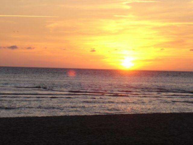 0773-15 Ferienhaus Strandperle Sonnenuntergang