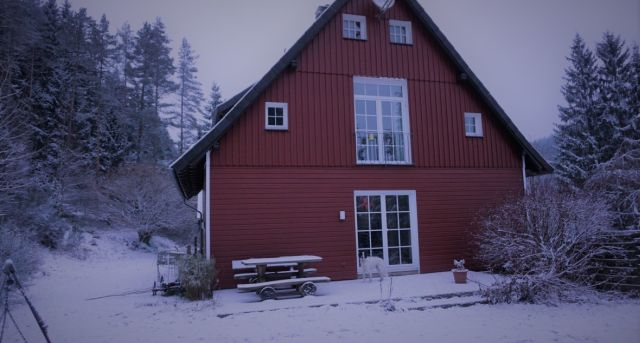 0792-02 Forsthaus Oberharz Haus Winter