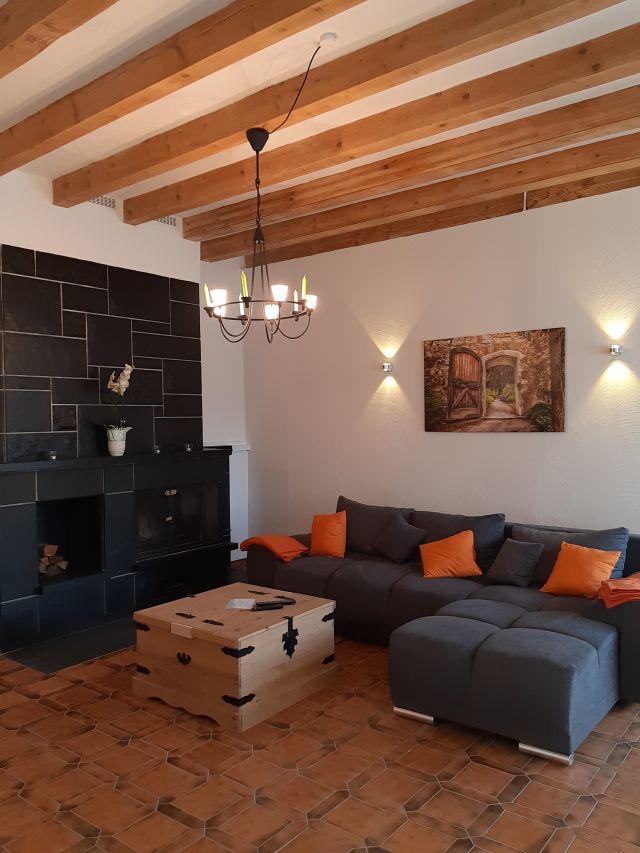 0865-15 Landhaus Schlossberg FeWo 05 Wohnzimmer