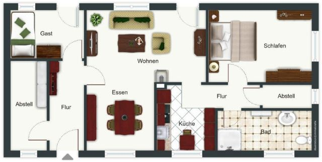 0867-11 Kleines Jagdhaus Grundriss